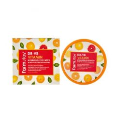032730 FarmStay Гидрогелевые патчи с витаминным комплексом DR-V8 Vitamin Hydrogel Eye Patch