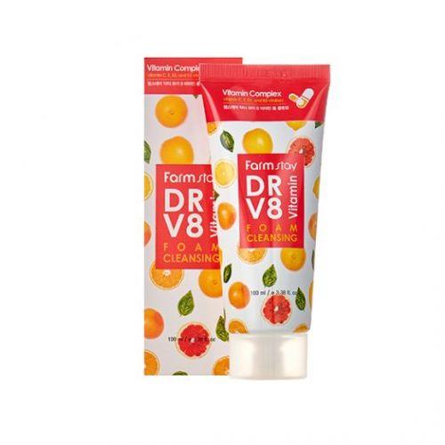 775885 FarmStay Пенка для умывания с витаминным комплексом DR V8 Vitamin Foam Cleansing