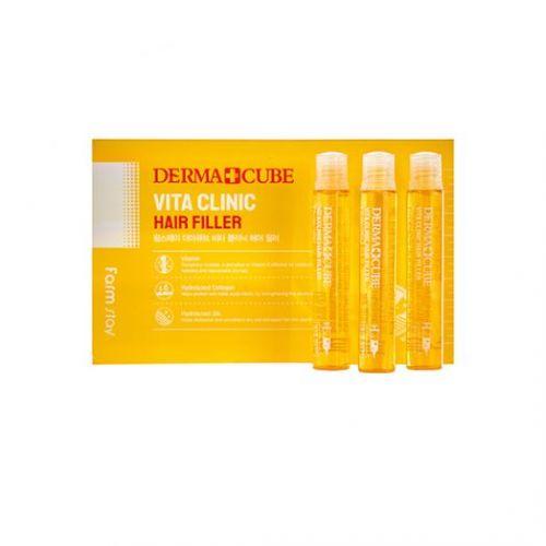881712 FarmStay Витаминизирующий филлер для волос с витаминами DERMA СUBE Vita Clinic Hair Filler