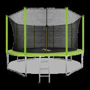 Батут Arland 14FT с внутренней страховочной сеткой и лестницей (Light green)