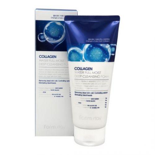 770968 FarmStay Ультраувлажняющая пенка для умывания с коллагеном Collagen Water Full Moist Deep Cleansing Foam