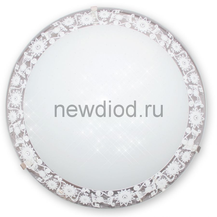 "Светильник ""Полюшко"" 250 LED 18 M15 глянцевый белый /кл.штамп металлик (250х75, 18Вт 4000К) ИУ"
