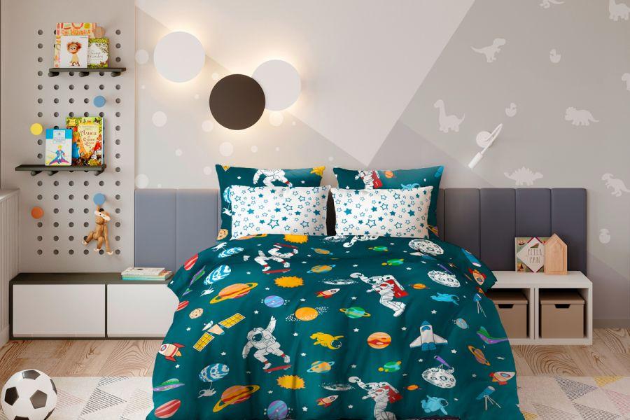 Поплин 1.5 спальный [в ассортименте] Космос постельное белье