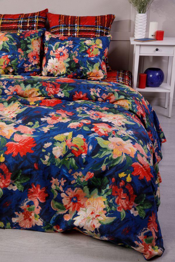 Поплин 1.5 спальный [красный] Бонни и Клайд постельное белье