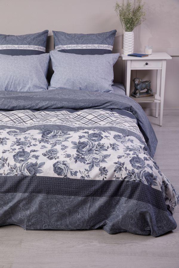 Поплин 2-х спальный [серый] Валери постельное белье