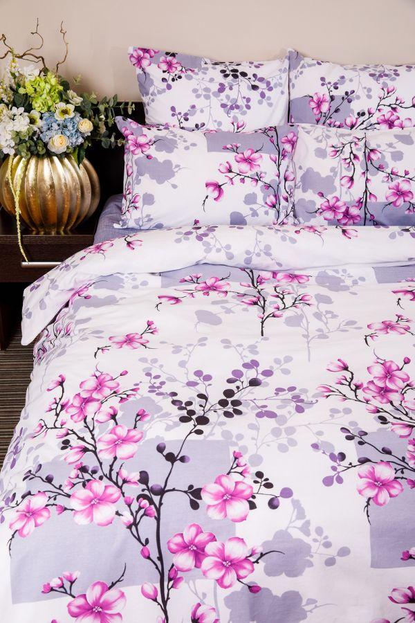 Поплин 2-х спальный с евро [в ассортименте] Сакура постельное белье