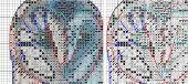 """Night guest"". Digital cross stitch pattern."