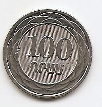 100 драмов (регулярный выпуск) Армения 2003 из обращения