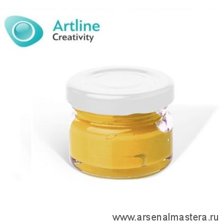 Пигментная паста для эпоксидной смолы 10 гр желтая Pigment Paste Artline PST-00-010-YLW