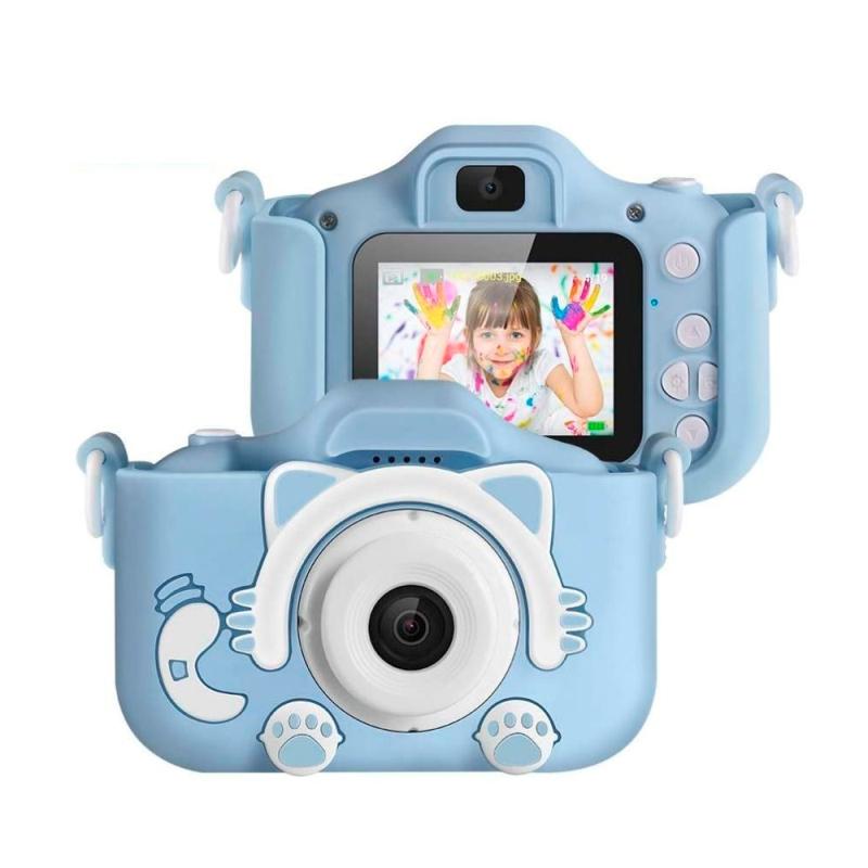 Детский цифровой фотоаппарат Kitty, Голубой