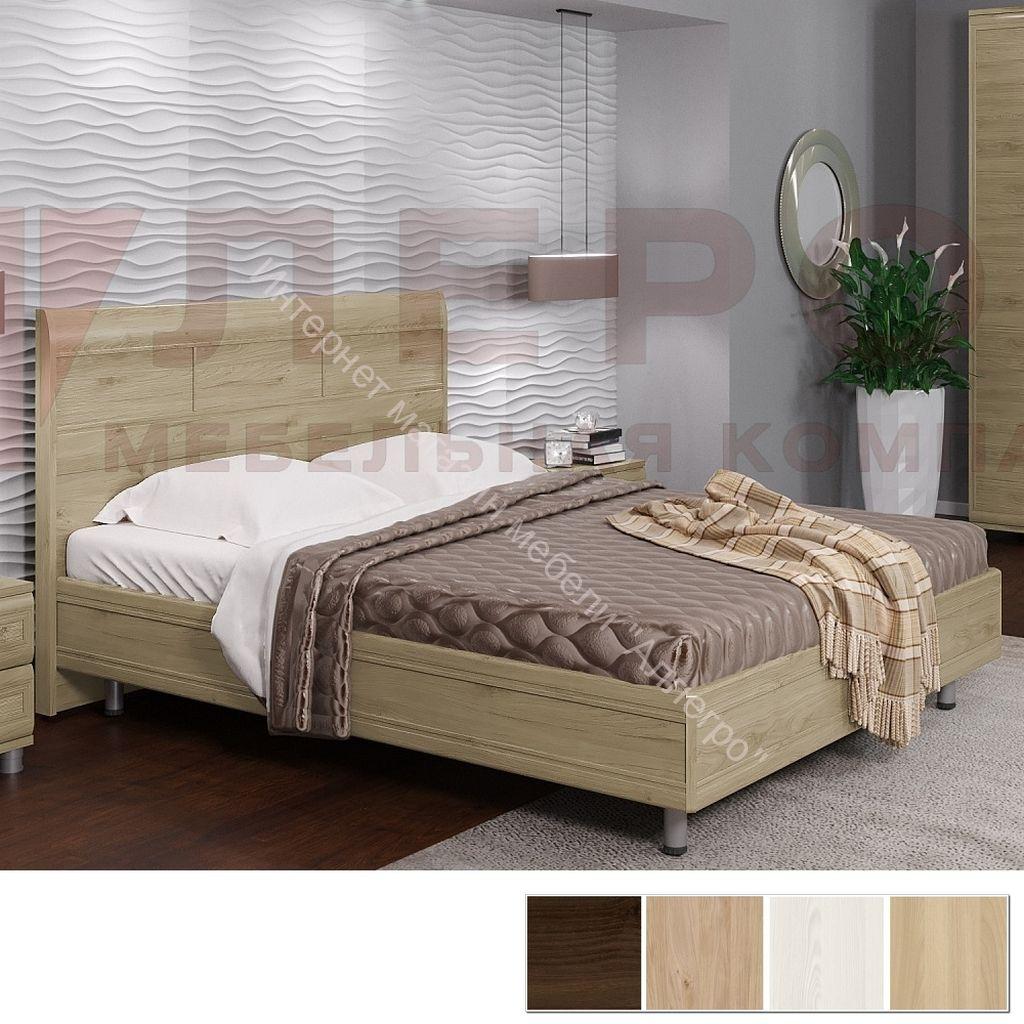 Кровать КР-2803 (1,6х2,0)с жестким изголовьем Мелисса