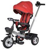 Детский трехколесный велосипед с родительской ручкой, красный / red