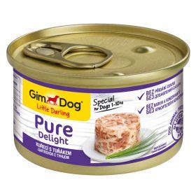 GimDog Pure Delight Консервы для собак из цыпленка с тунцом 85 г