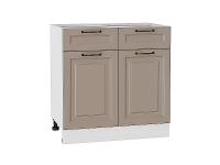 Шкаф нижний с 2-мя дверцами и 2-мя ящиками Ницца Royal Н801 в цвете Omnia
