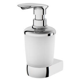 Стеклянный диспенсер для жидкого мыла с настенным держателем, хром, шт AM.PM Sensation A3036900