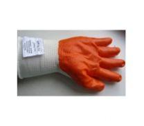 Перчатки нейлоновые обрезиненные в/с (оранж) МАКСИ