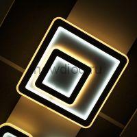 Управляемый светодиодный светильник GEOMETRIA 2203 145Вт-37м² 6/3/4000K пульт 480мм белый Oreol