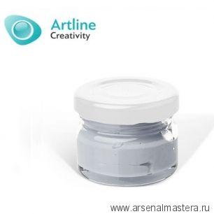 Пигментная паста для эпоксидной смолы 10 гр светло - серая Pigment Paste Artline PST-00-010-SSR
