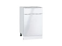 Шкаф нижний с 1-ой дверцей и ящиком Фьюжн Н501 в цвете Angel