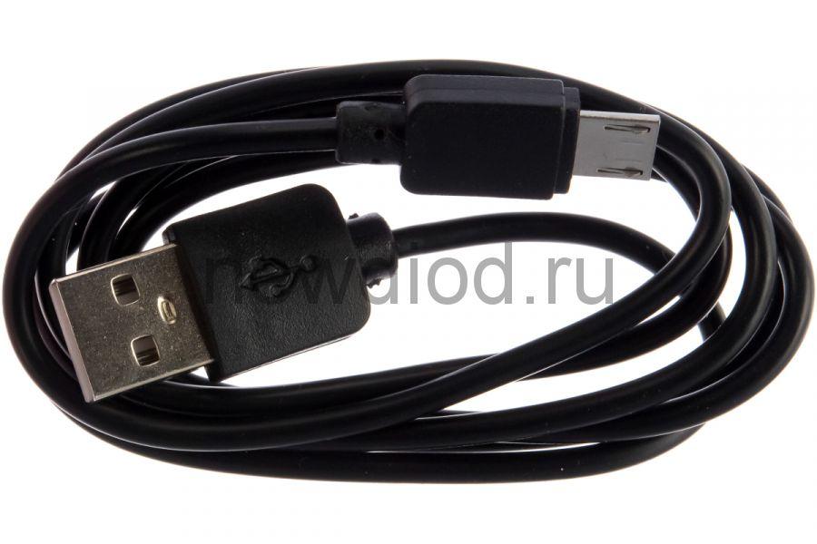 USB кабель microUSB длинный штекер 1 м черный REXANT