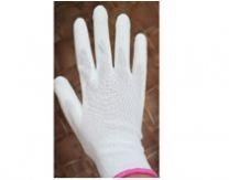 Перчатки нейлоновые с полиуретановым покрытием, белые