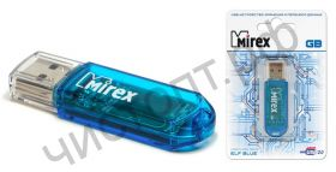 флэш-карта Mirex 32GB ELF (ecopack) синий