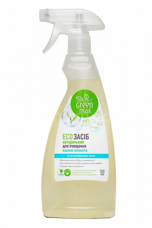 Экосредство для уборки ванной комнаты GREEN MAX (500 мл)