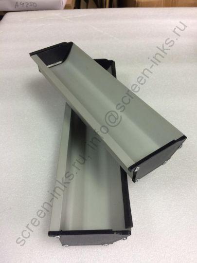 Ракель кювета алюминиевый для трафаретной печати (R= 0,4) цена за 1м.