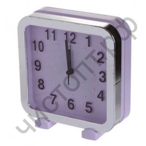 """Часы -будильник настол. Perfeo Quartz """"PF-TC-018"""", квадратные 13*13 см, фиолетовые"""