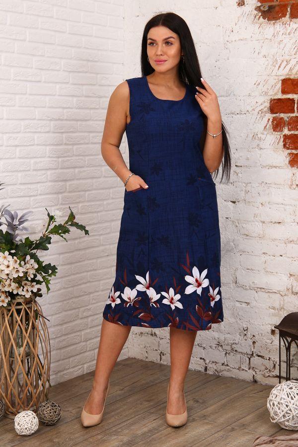 Платье 27561 [синий]