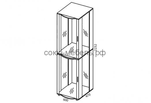 Гостиная Премьера (шкаф стеклянный ШС (2шт)+полки стеклянные ПС (2шт)+зеркало Z-ШС (2шт) +тумба ТБ+полка ПЛ (2шт)+полка ПН-1,2+шкаф навесной ШН-1,8)