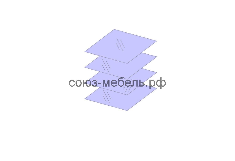 Премьера Полки стеклянные в Шкаф ШС и Витрину ВС, ПС