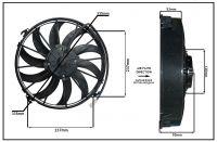 """Осевой вентилятор 12"""" дюймов, 170Вт, 24В, Всасывающий (PULL), STR 118"""