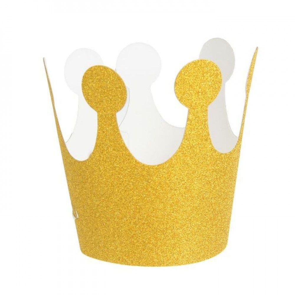 Корона золотая (глиттер)