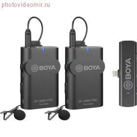BY-WM4 Pro-К4 Двухканальный беспроводной микрофон для Apple с Lightning