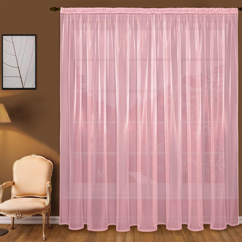 Тюль T101-9 вуаль розовый