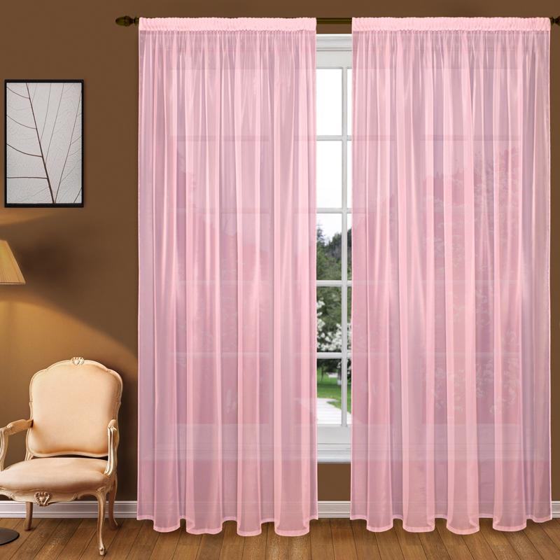 Тюль T102-9 вуаль розовый