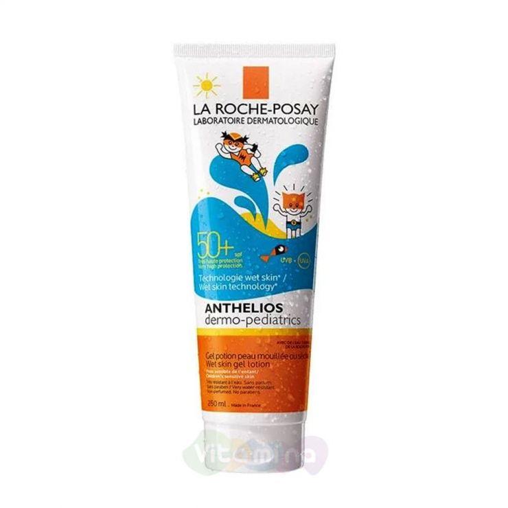La Roche-Posay Anthelios Wet Skin гель для лица и тела для детей SPF50+, 250мл.