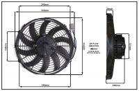 """Осевой вентилятор 12"""" дюймов, 170Вт, 24 В, Нагнетающий(PUSH), STR 116"""
