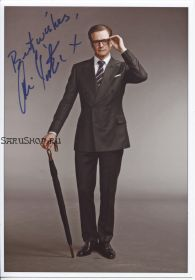 Автограф: Колин Фёрт. Kingsman: Секретная служба