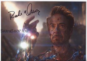 Автограф: Роберт Дауни мл. Железный человек. Мстители: Финал