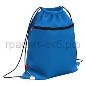 Сумка для обуви ErichKrause Neon Blue с карманом на молнии 500х410мм 49125