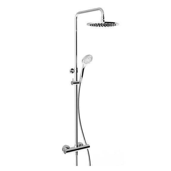 Душевая колонна с круглым тропическим душем Gessi Minimalistic Shower 3517 ФОТО