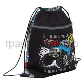 Сумка для обуви ErichKrause Track Car с карманом на молнии 500х410мм 48580