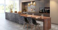 Кухня Fat Stone серо-коричневый