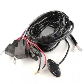 Комплект проводки на светодиодную балку ближнего и дальнего света с пультом