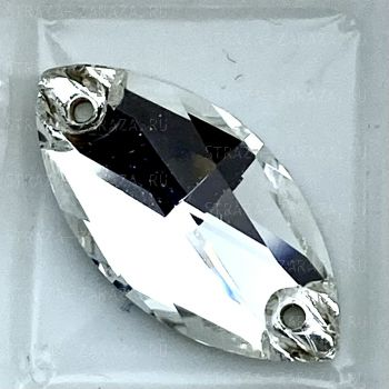 DeLuxe Пришивные Стразы Crystal Наветта 7*15 мм