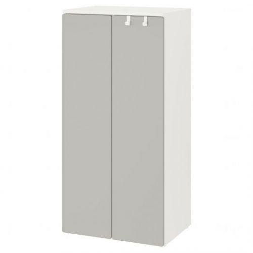 SMASTAD СМОСТАД, Гардероб, белый/серый, 60x42x123 см - 793.951.31