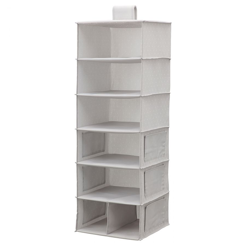 BLADDRARE БЛЭДДРАРЕ, Подвесной модуль,7отделений, серый/с рисунком, 30x30x90 см - 604.744.06