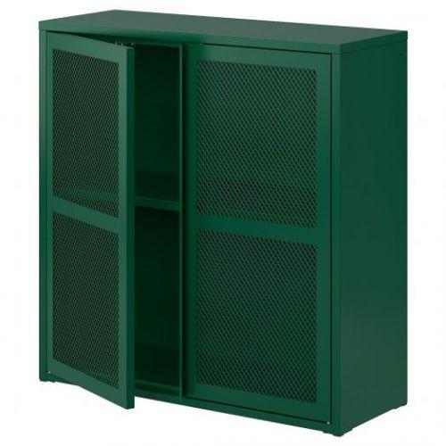 IVAR ИВАР, Шкаф с дверями, зеленый сетка, 80x83 см - 304.839.83